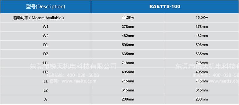 雷茨高速离心风机RAETTS-100安装尺寸